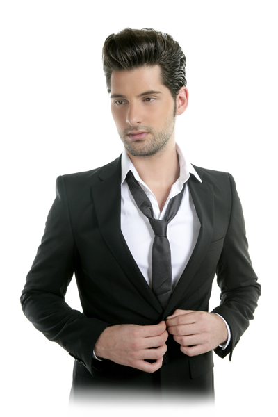 Male model in suit and tie